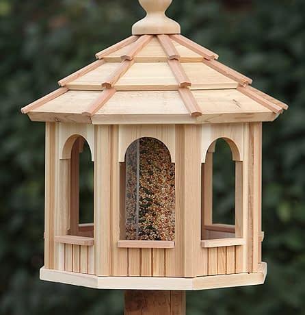 Medium Size Wooden Bird Feeder Gazebo - BCH Bird Feeders