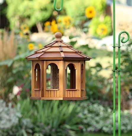 8 Sided Octagon wooden Bird Feeder Gazebo - BCH Bird Feeders