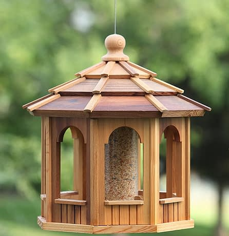 Medium Size Wooden Bird Feeder Gazebo - BCH Bird Feeders